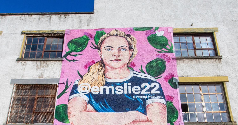 Women In Football Murals